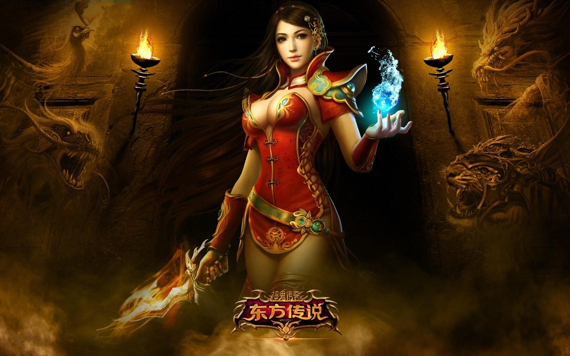 Wallpaper Oriental Legend Of The Game Beautiful Girl 1920x1200 Hd