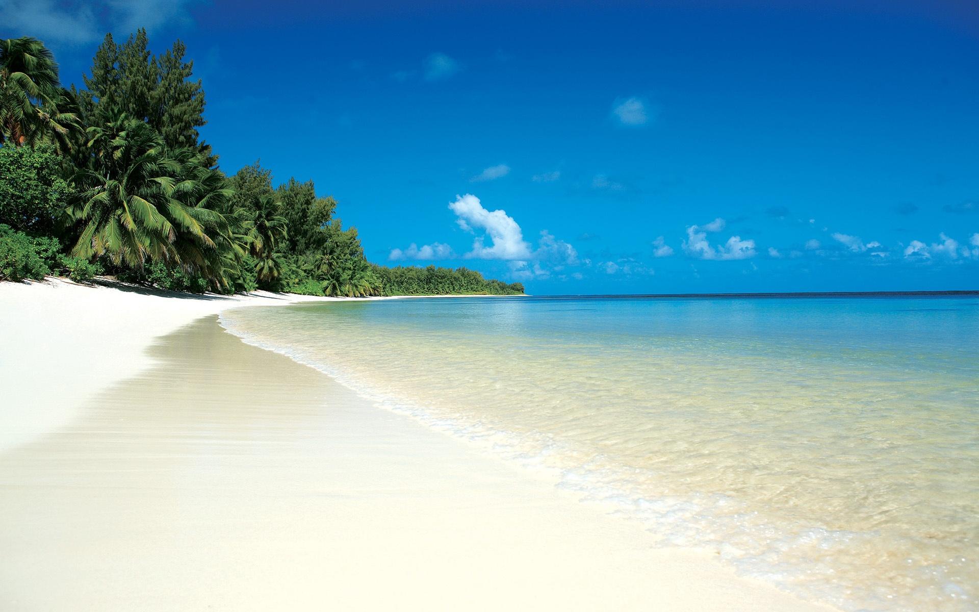 tropischer strand und meer 1920x1200 hd hintergrundbilder. Black Bedroom Furniture Sets. Home Design Ideas