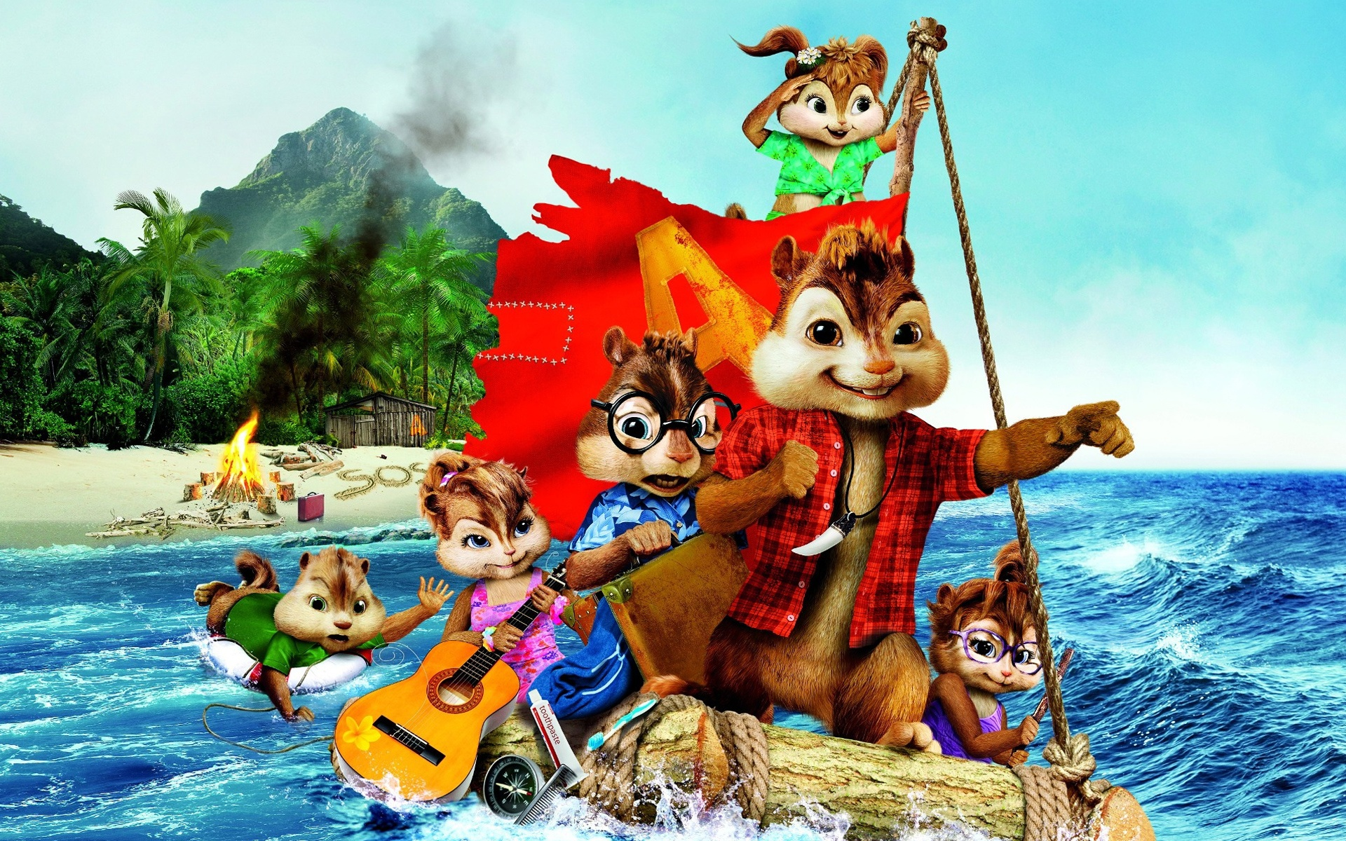 Alvin et les Chipmunks 3 HD Fonds d'écran - 1920x1200