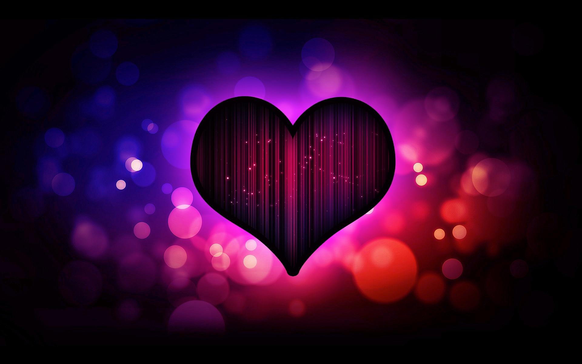 Download Wallpaper 1920x1200 Dark purple heart love HD ...