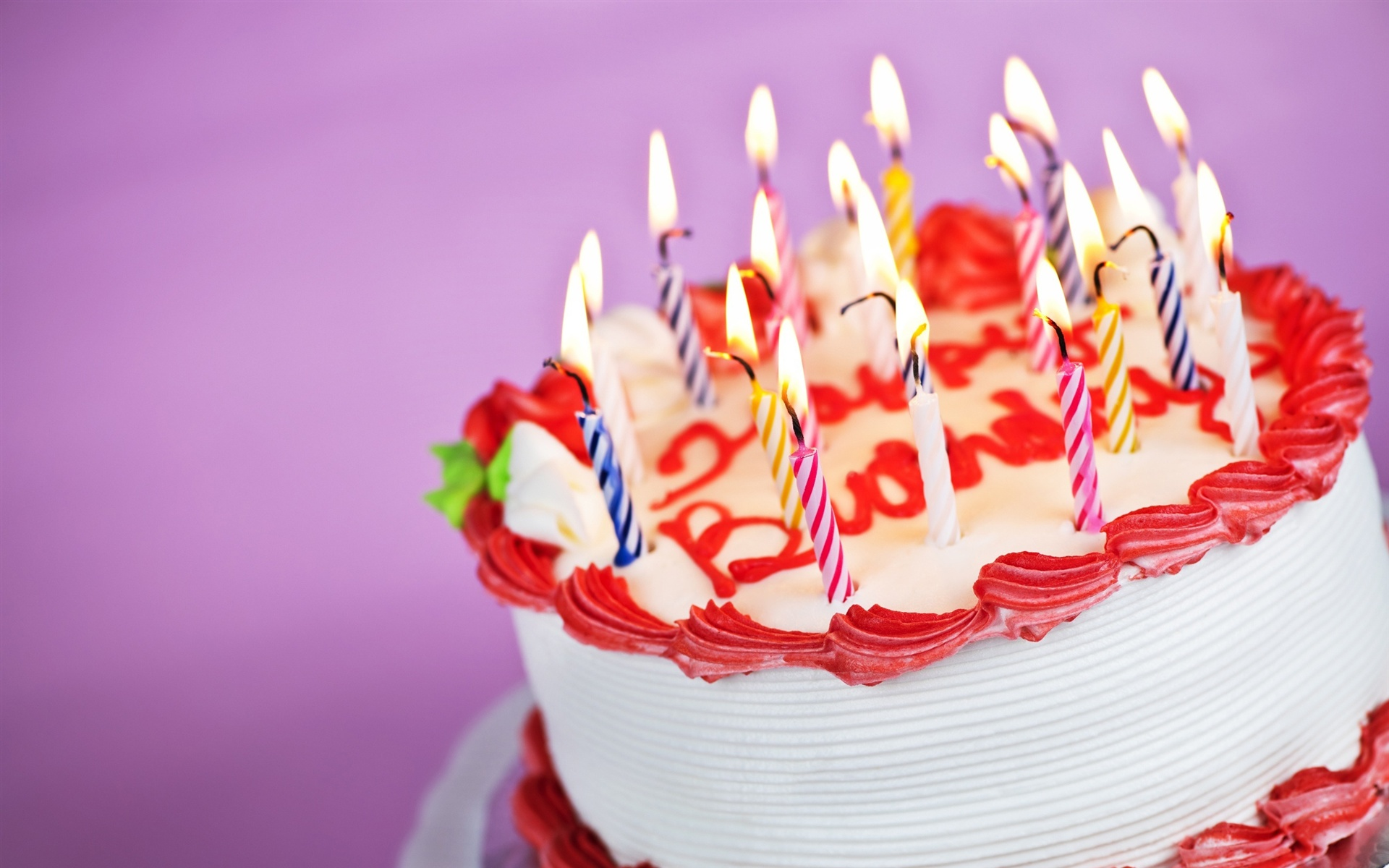 Delicious birthday cake Wallpaper 1920x1200 resolution ...