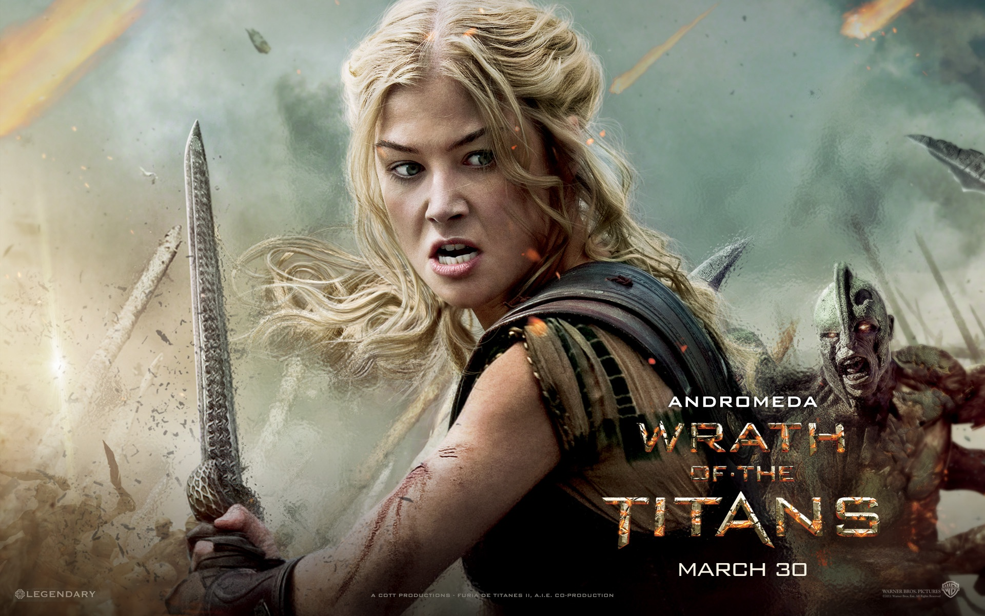 Wallpaper Rosamund Pike In Wrath Of The Titans 1920x1200 Hd