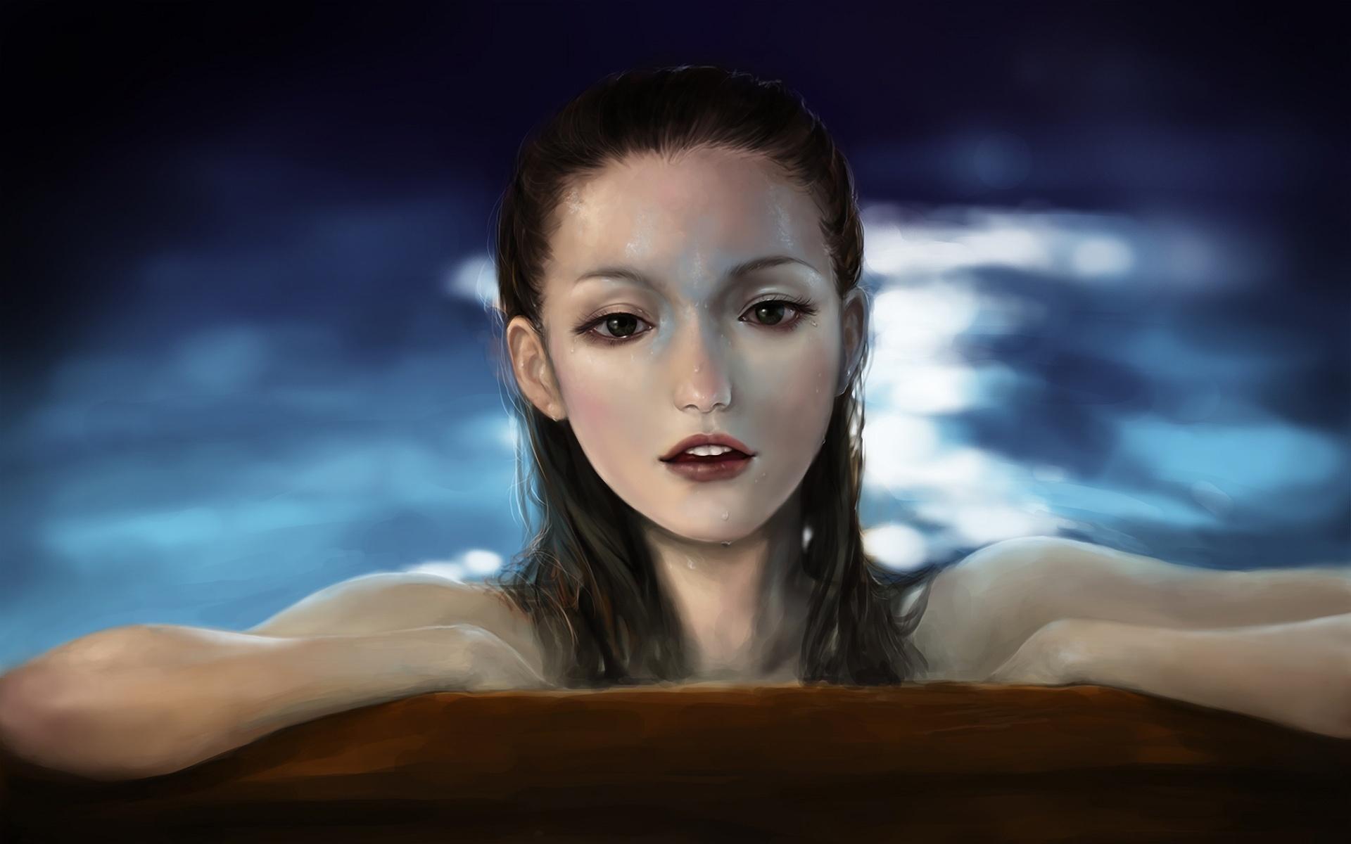 Hintergrundbilder beschreibung kunst meerjungfrau mädchen