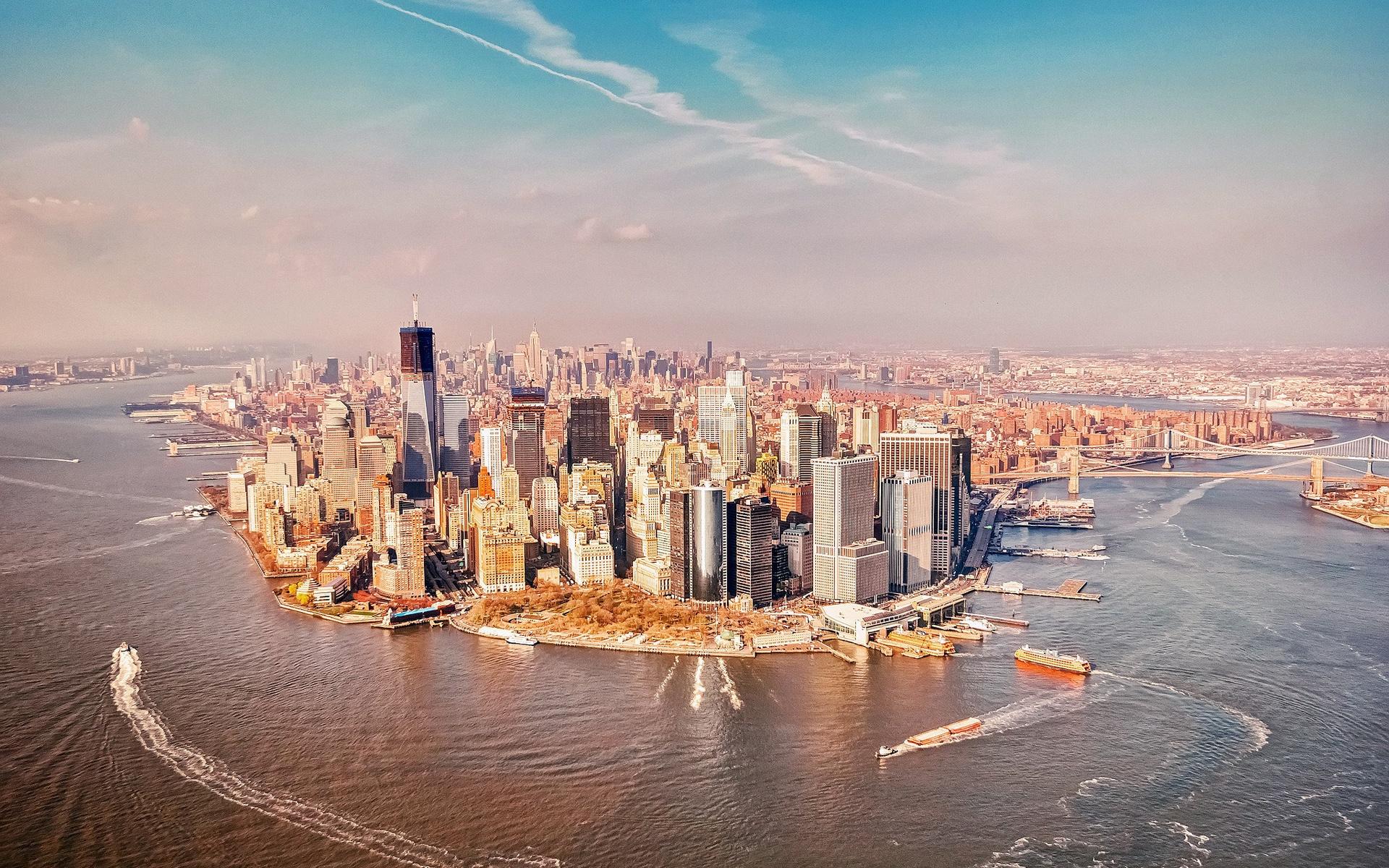 壁紙 アメリカ、ニューヨークマンハッタン 1920x1200 Hd 無料のデスクトップの背景 画像