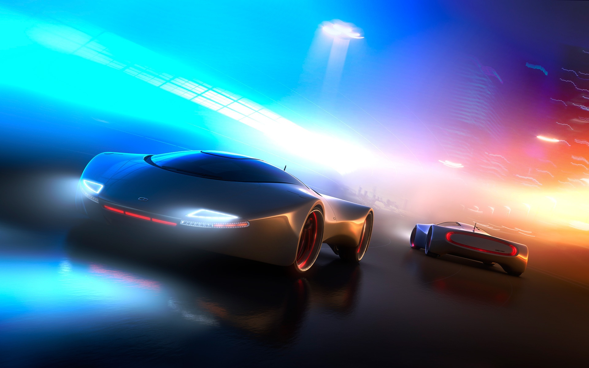 Wallpaper Neon Light Concept Car 1920x1200 Hd Picture Image