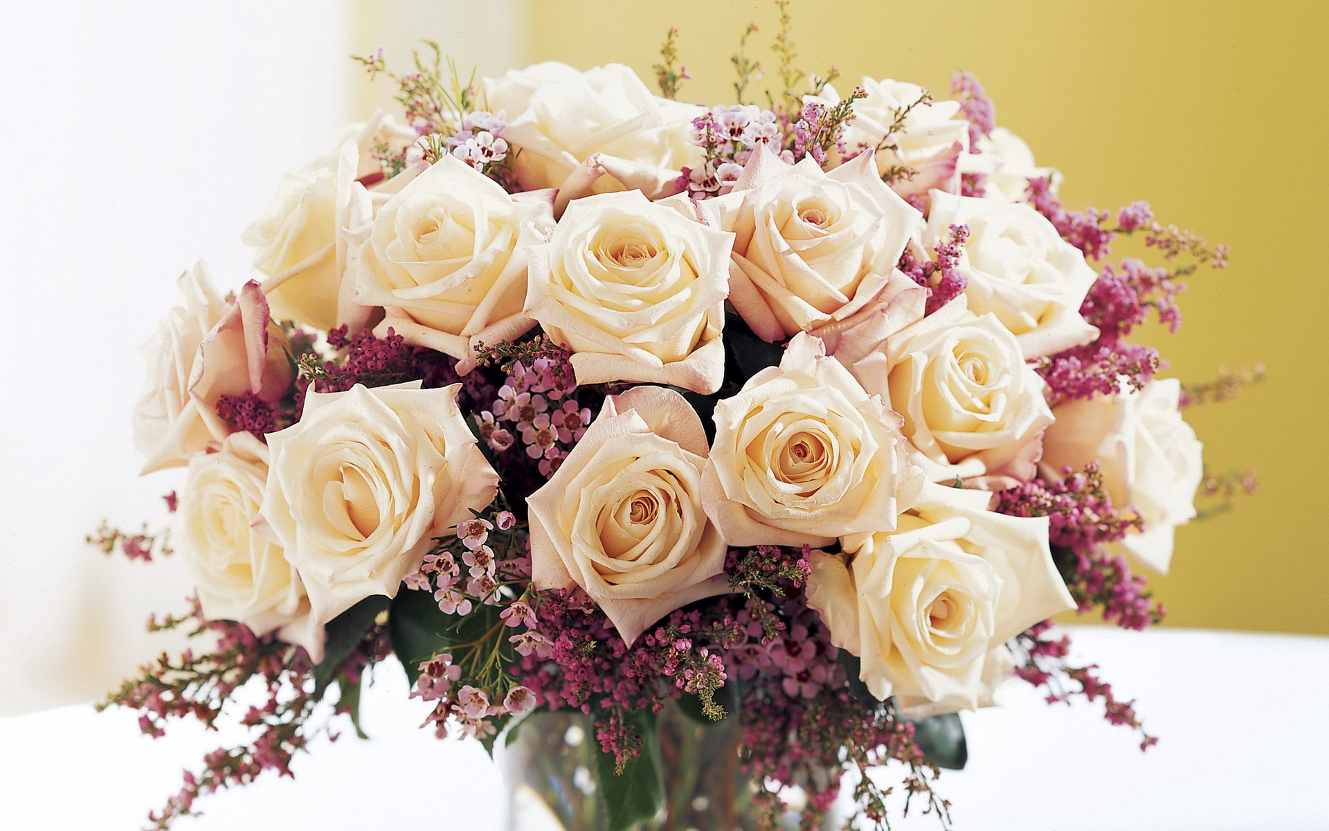 букет роз обои на рабочий стол в высоком качестве № 178091 загрузить