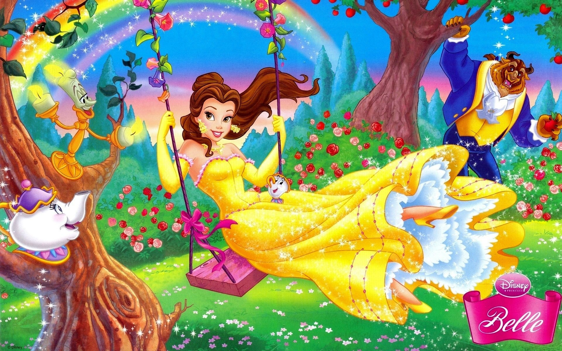 Wallpaper Disney Cartoon Beauty And The Beast 1920x1200 Hd