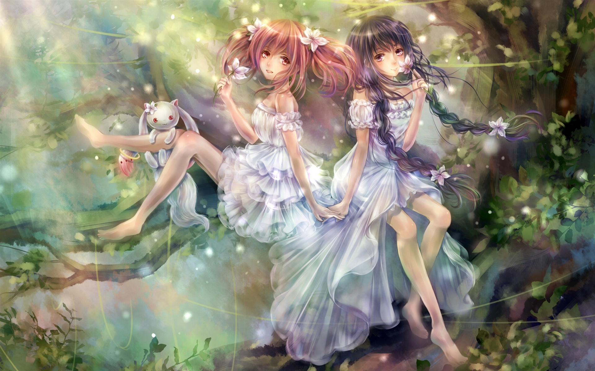 Magic girls anime wallpaper - 1920x1200