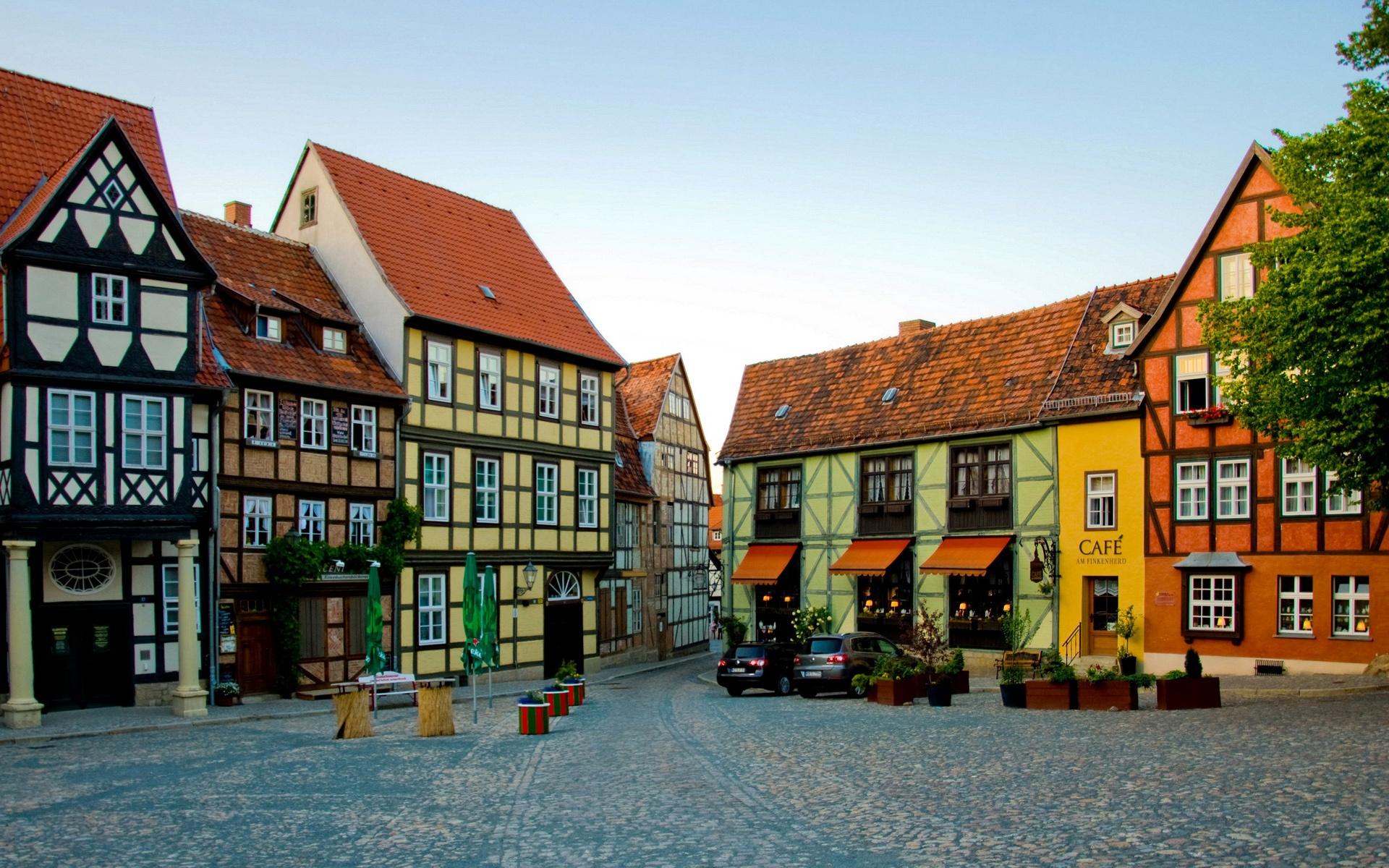 壁紙 ドイツの町の家 1920x1200 Hd 無料のデスクトップの背景 画像