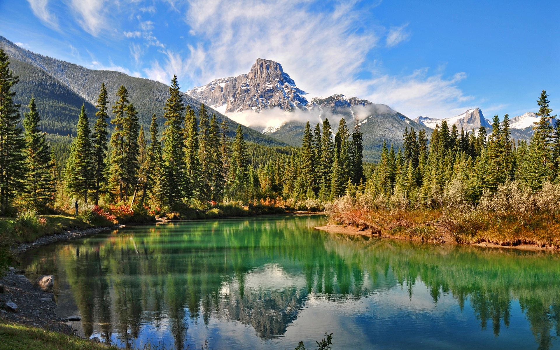 カナダの森の湖の自然景観 壁紙 - 1920x1200    1920x1200 壁紙ダウンロー