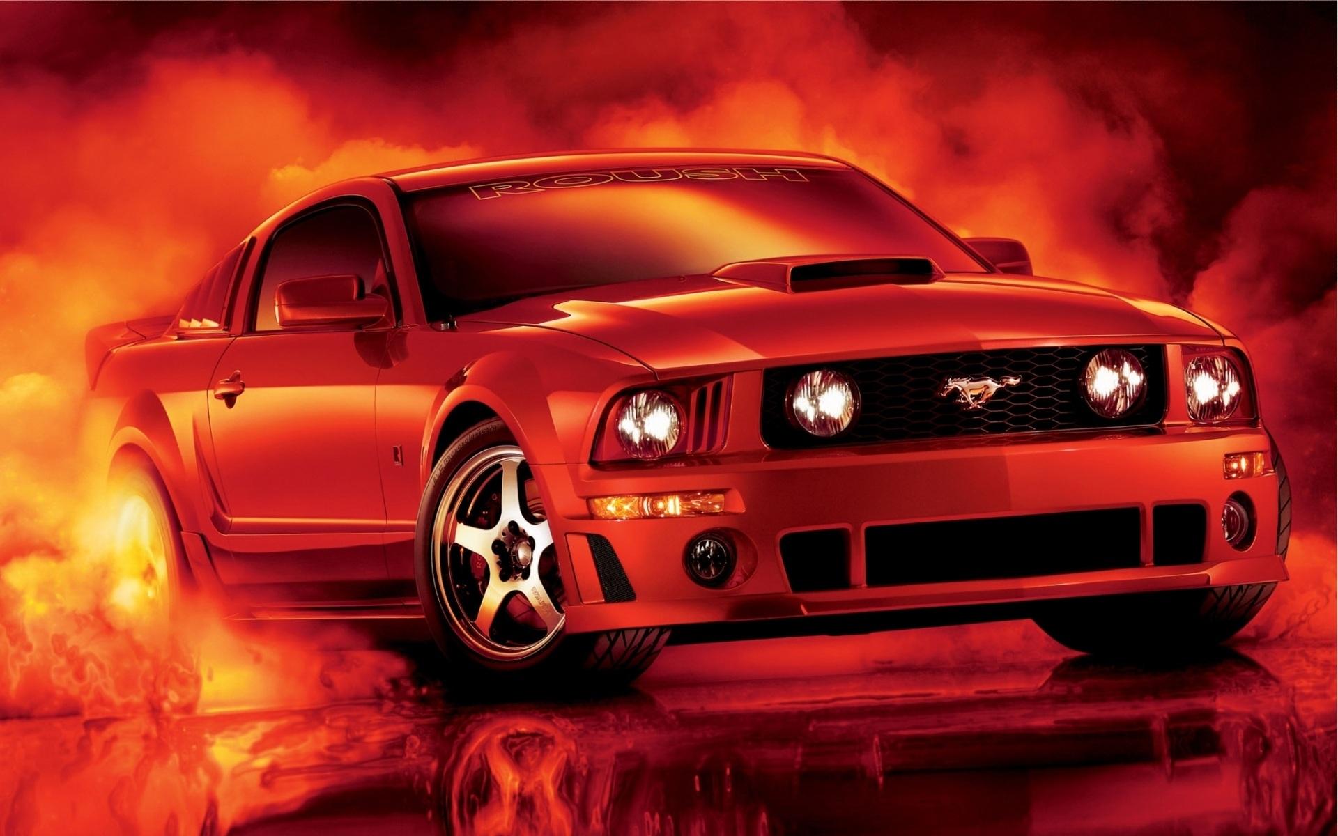 Download Hintergrundbilder 1920x1200 Red Ford Mustang Auto