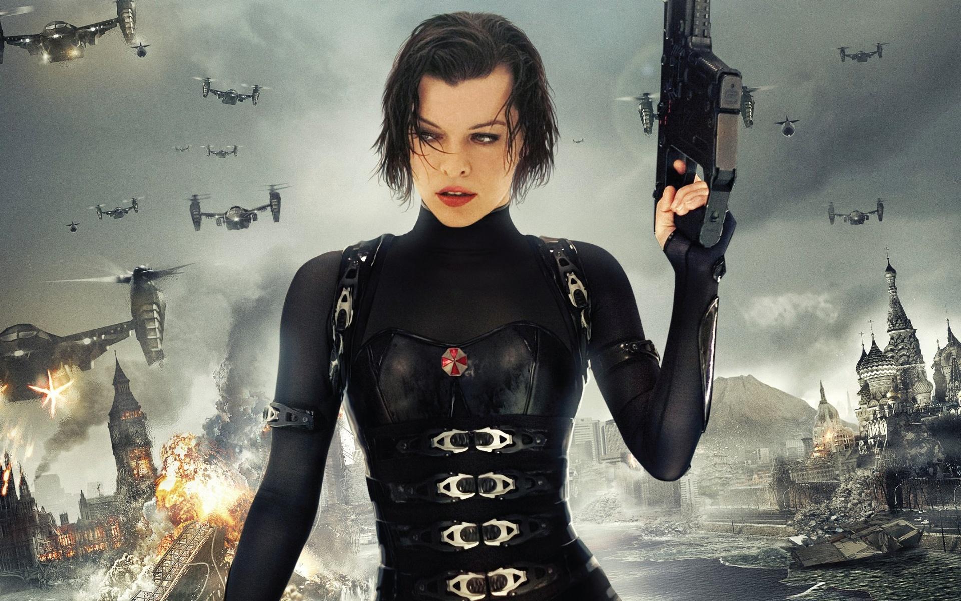 Wallpaper 2012 Movie Resident Evil 5 Retribution Milla Jovovich