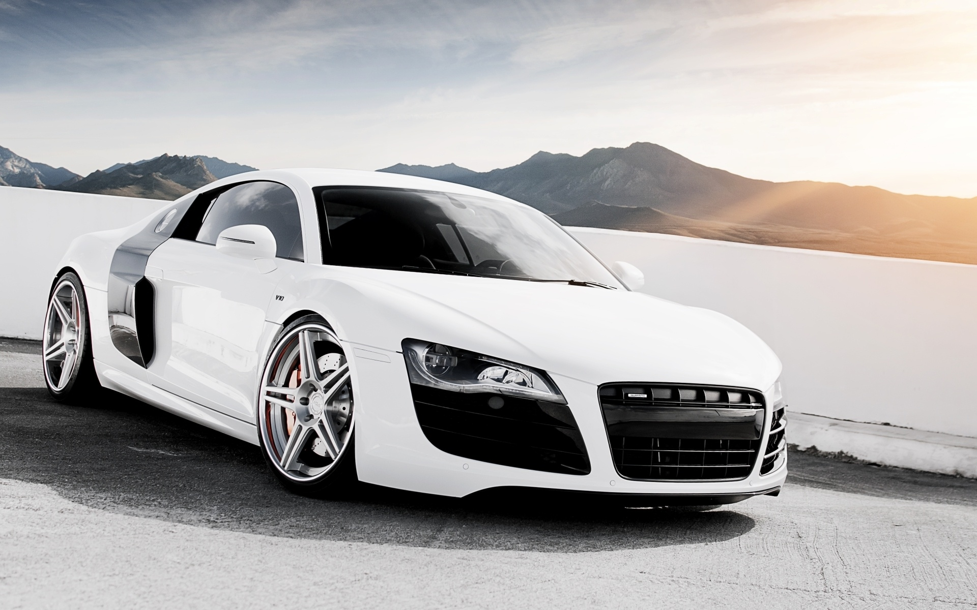 fonds d 39 cran audi r8 v10 blanc supercar 1920x1200 hd image. Black Bedroom Furniture Sets. Home Design Ideas