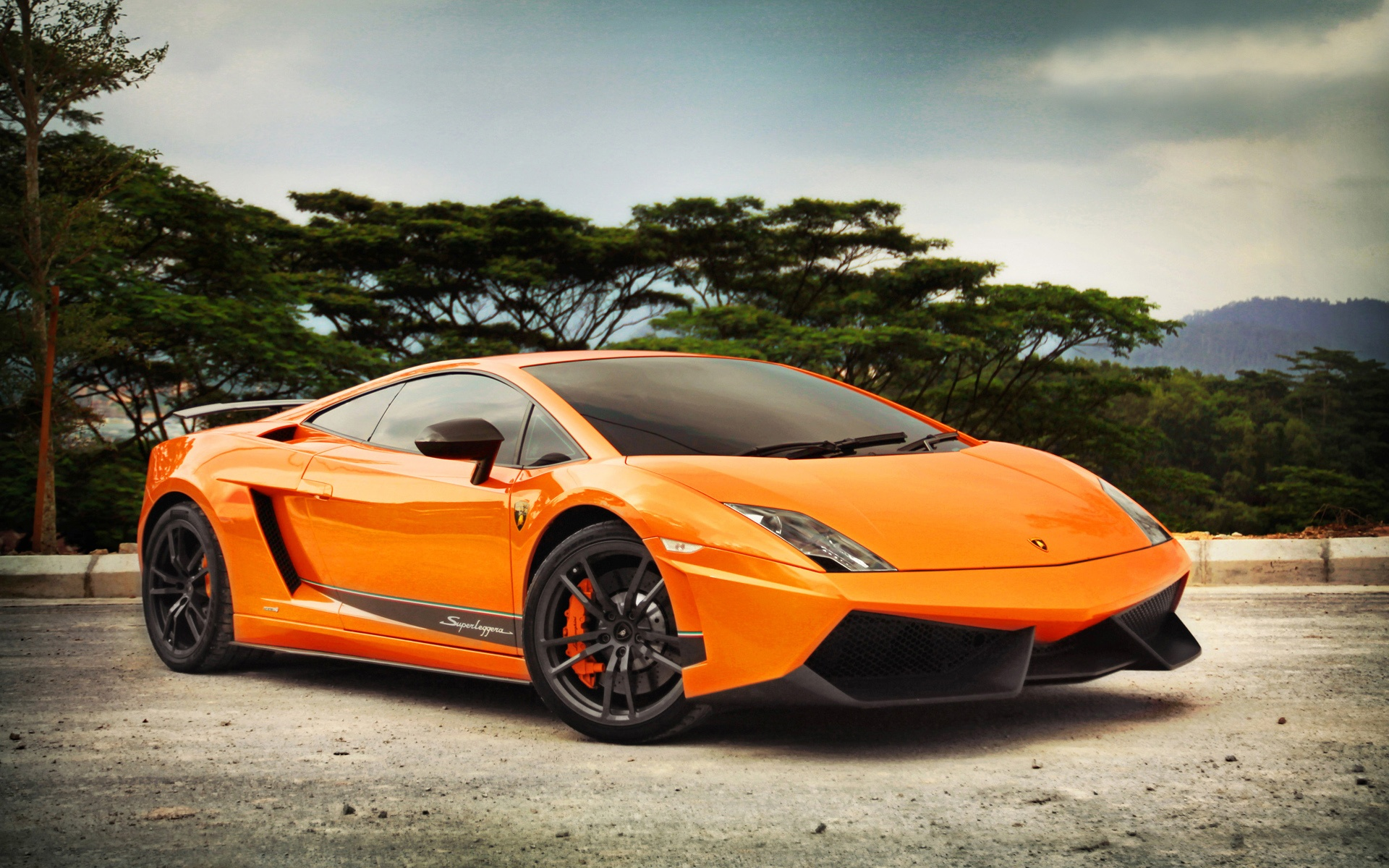 Wallpaper Lamborghini Gallardo Lp570 4 Orange Color 1920x1200 Hd