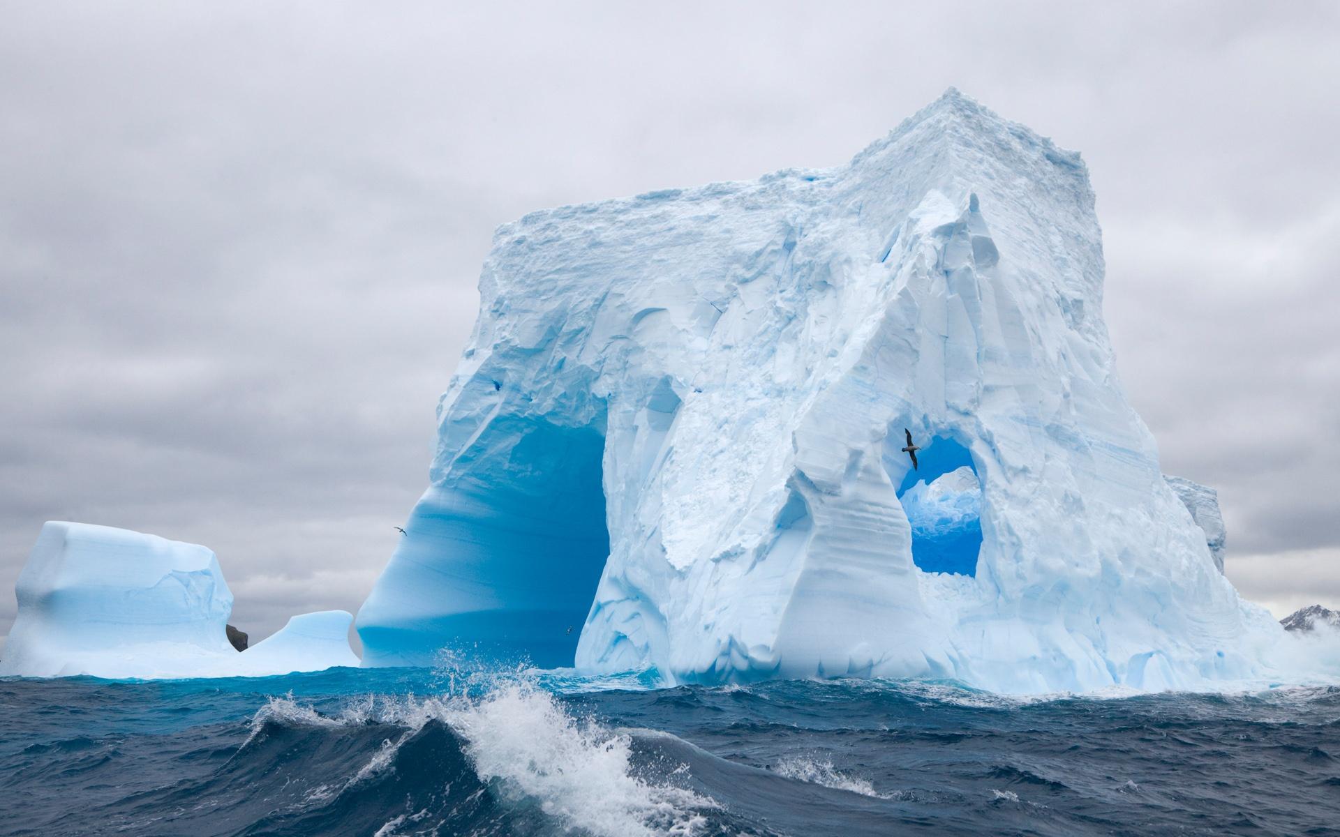природа айсберг море горизонт nature iceberg sea horizon  № 3511004 бесплатно