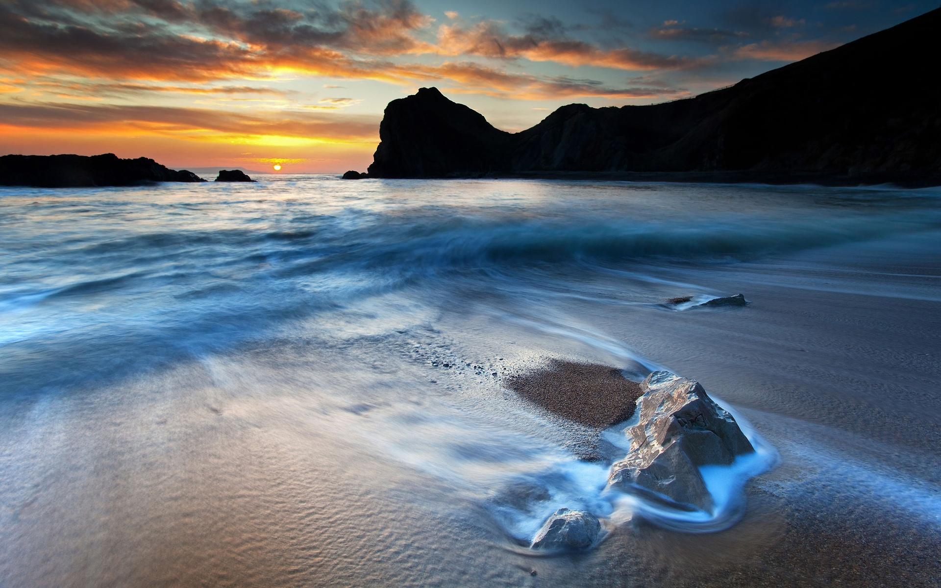 природа камни песок вода море побережье скачать