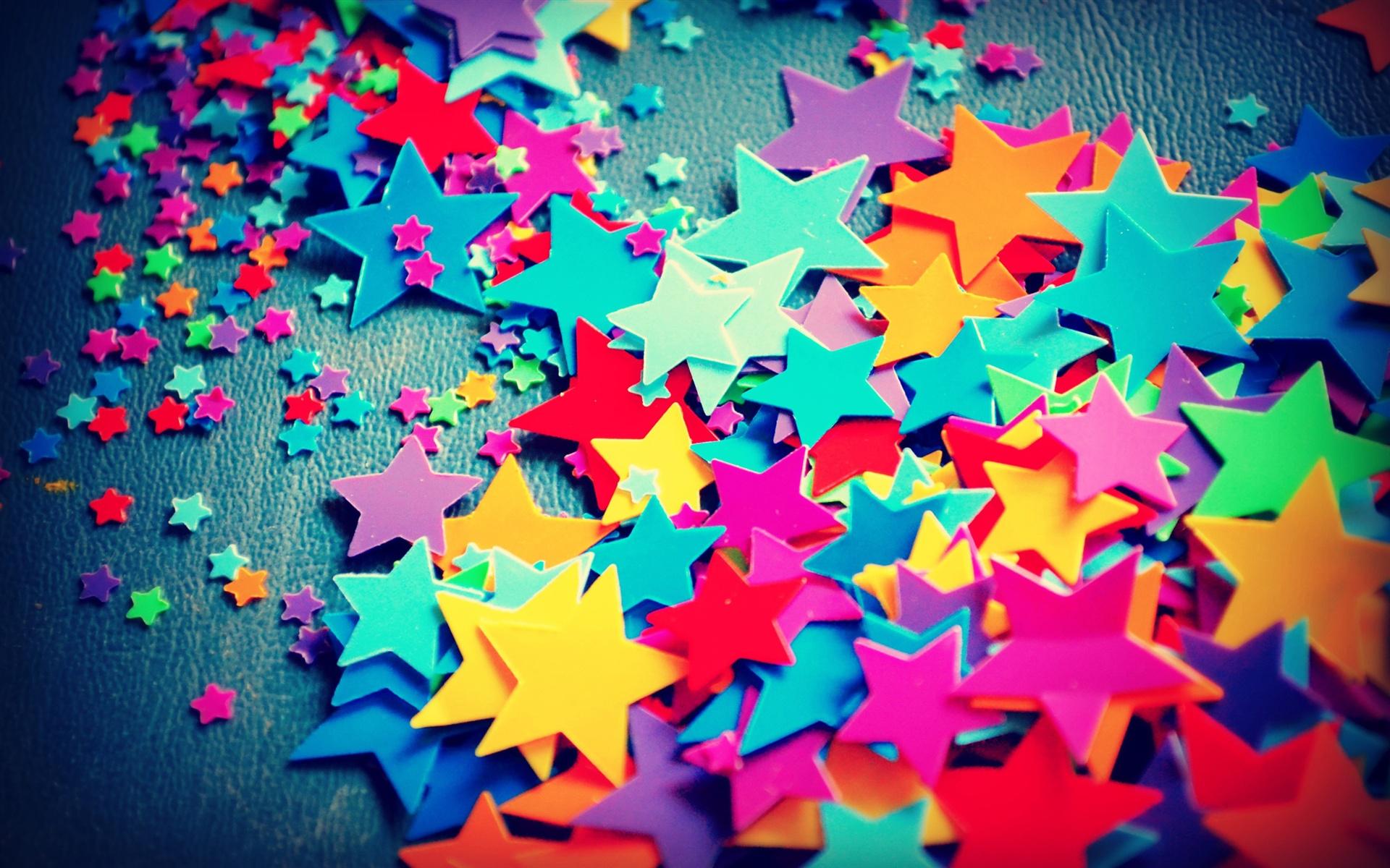 Große Und Kleine, Fünfzackigen Stern, Bunte Farben