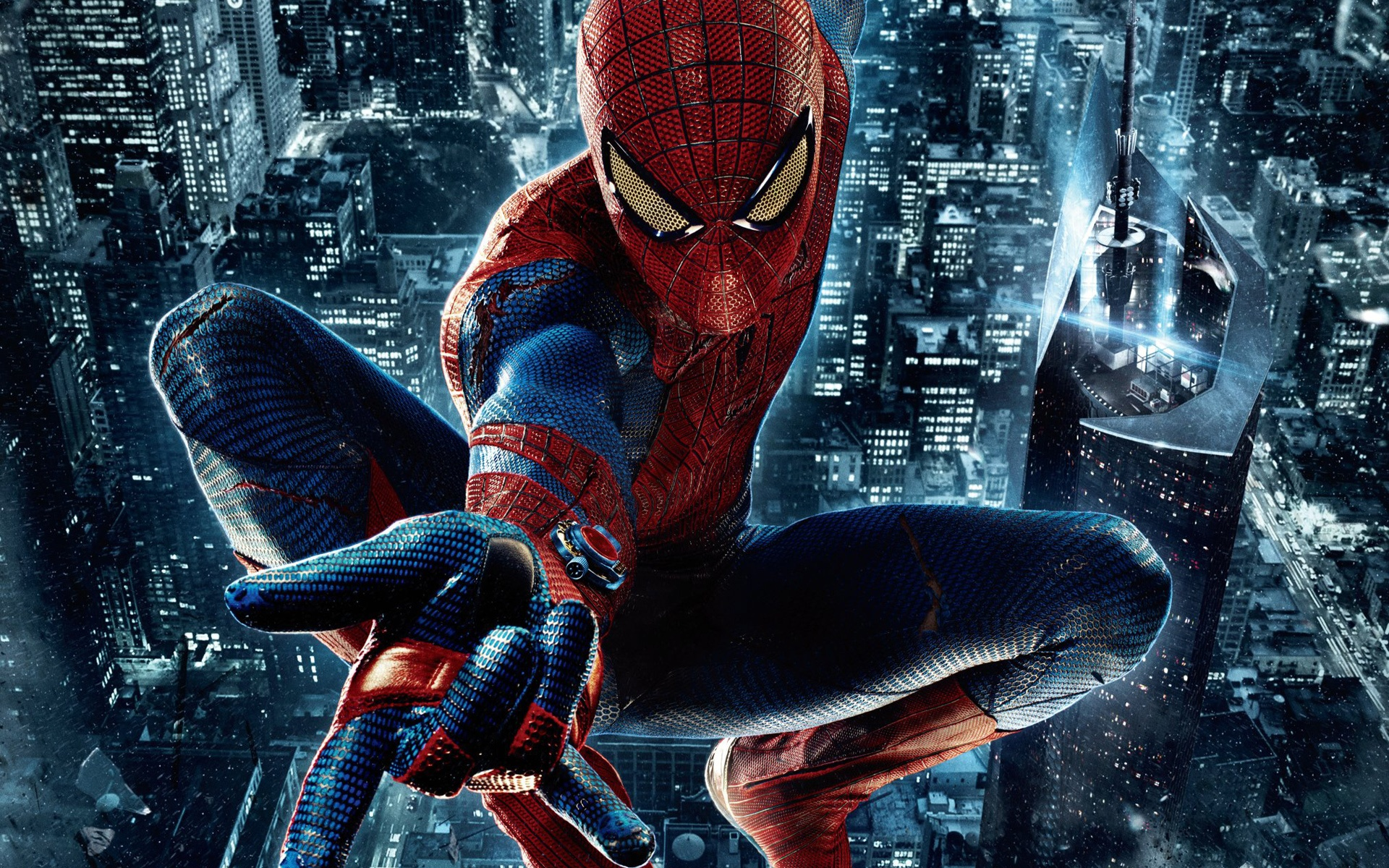 Wallpaper The Amazing Spider Man Night City 1920x1200 Hd Picture
