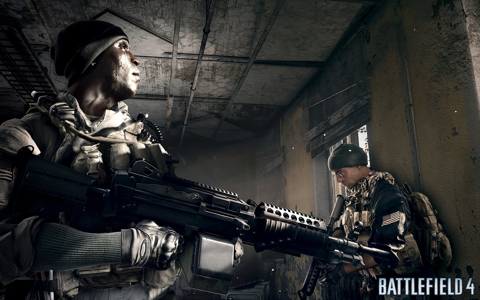 Battlefield4の建物の中