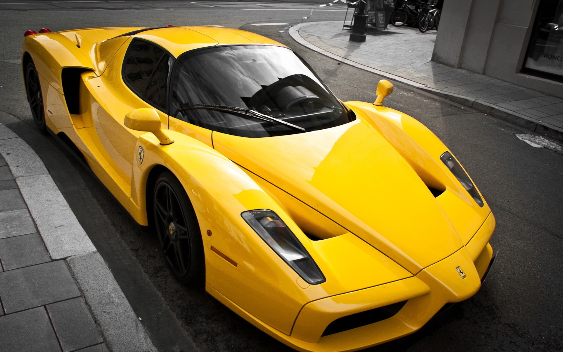 Papeis De Parede Ferrari Enzo Luxo Amarelo Supercarro 1920x1200 Hd Imagem