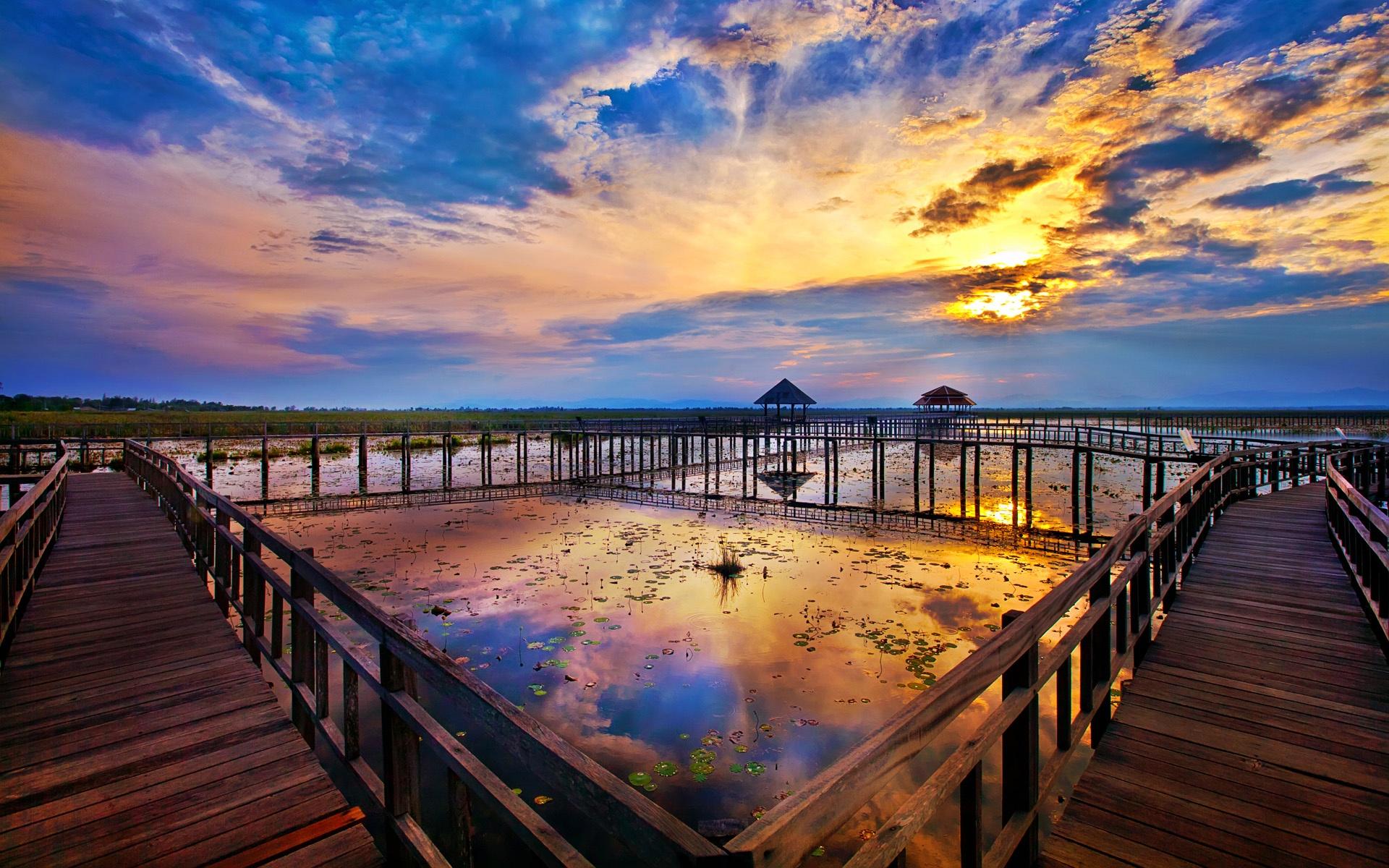 壁紙 ワット マハタートの遺跡 スコータイ歴史公園 タイ景勝地
