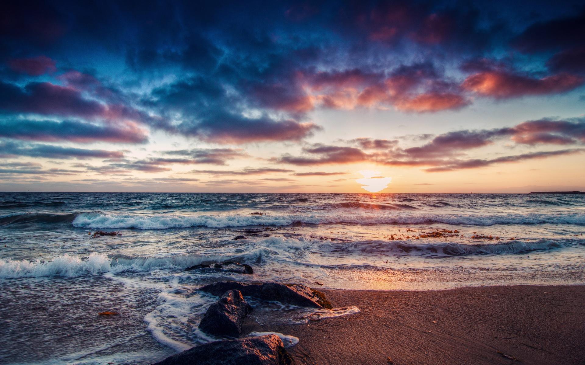 берег закат море скачать