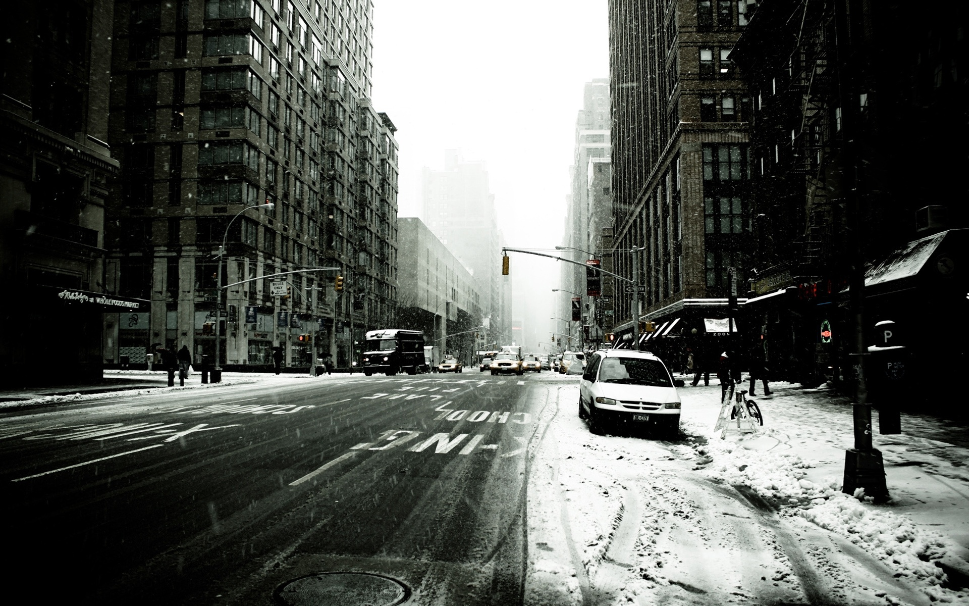 Wallpaper New York Street In Winter 1920x1200 Hd Picture Image