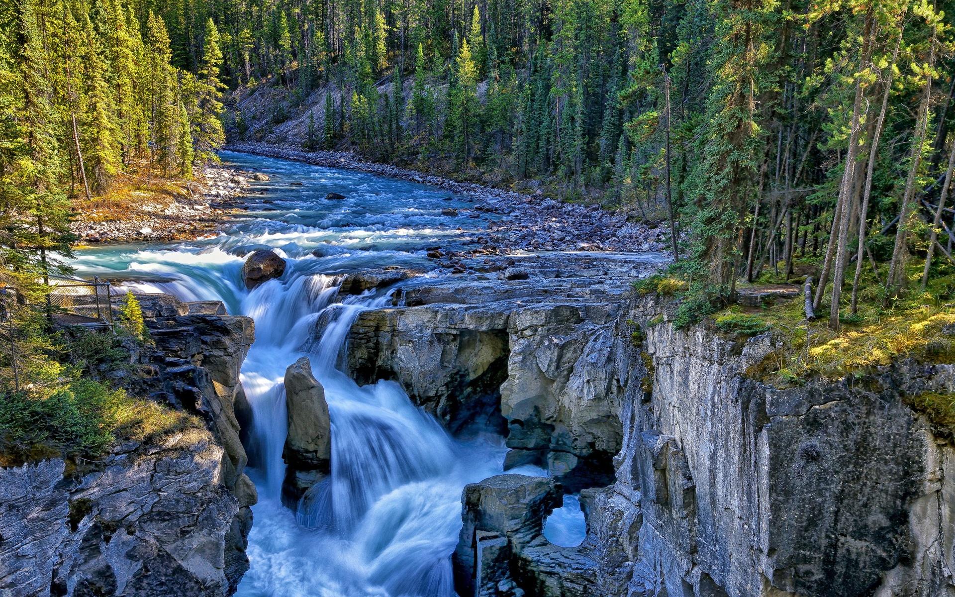 природа река водопад деревья  № 2490161 бесплатно