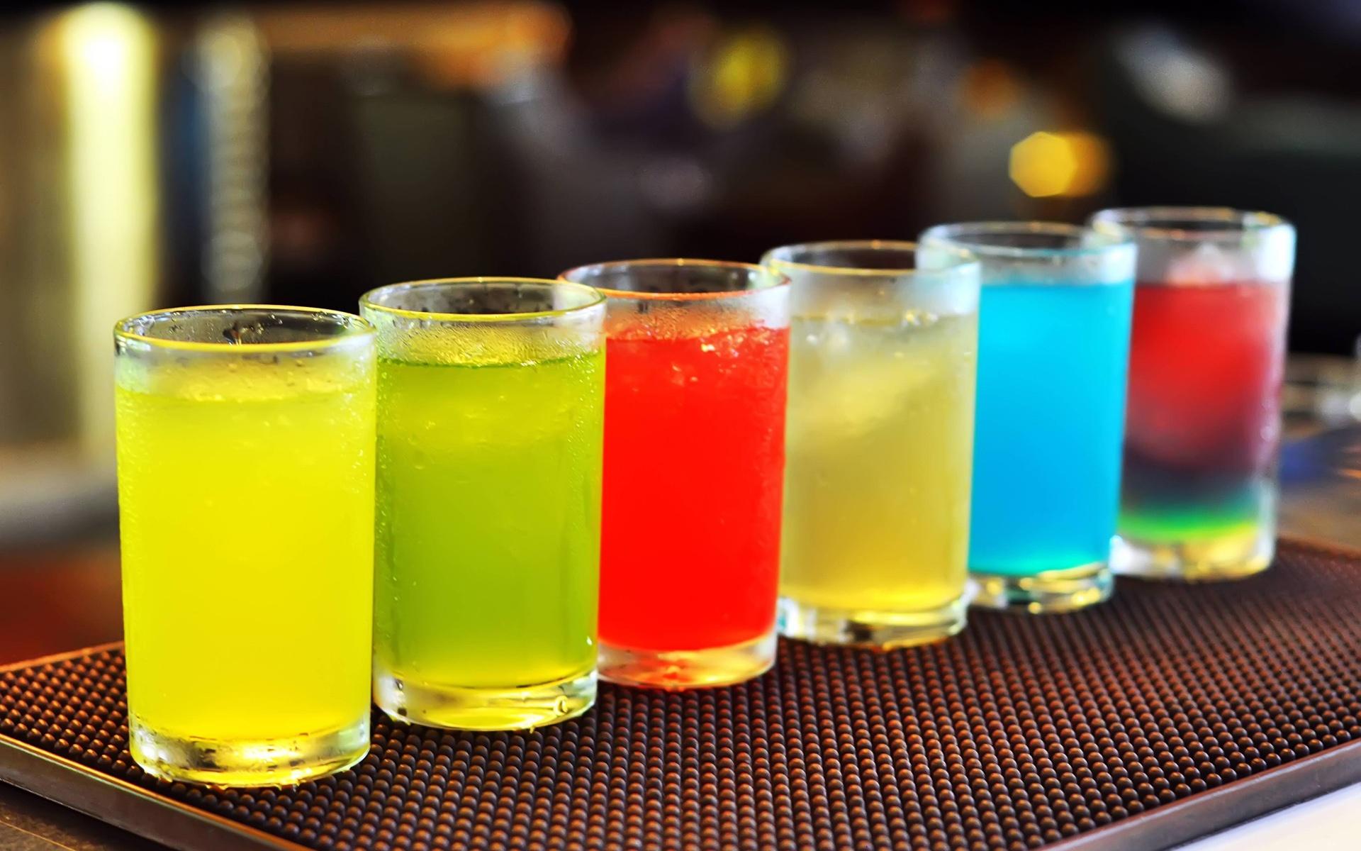 Kalte Getränke, bunte Cocktails, Glas, Becher 1920x1200 HD ...
