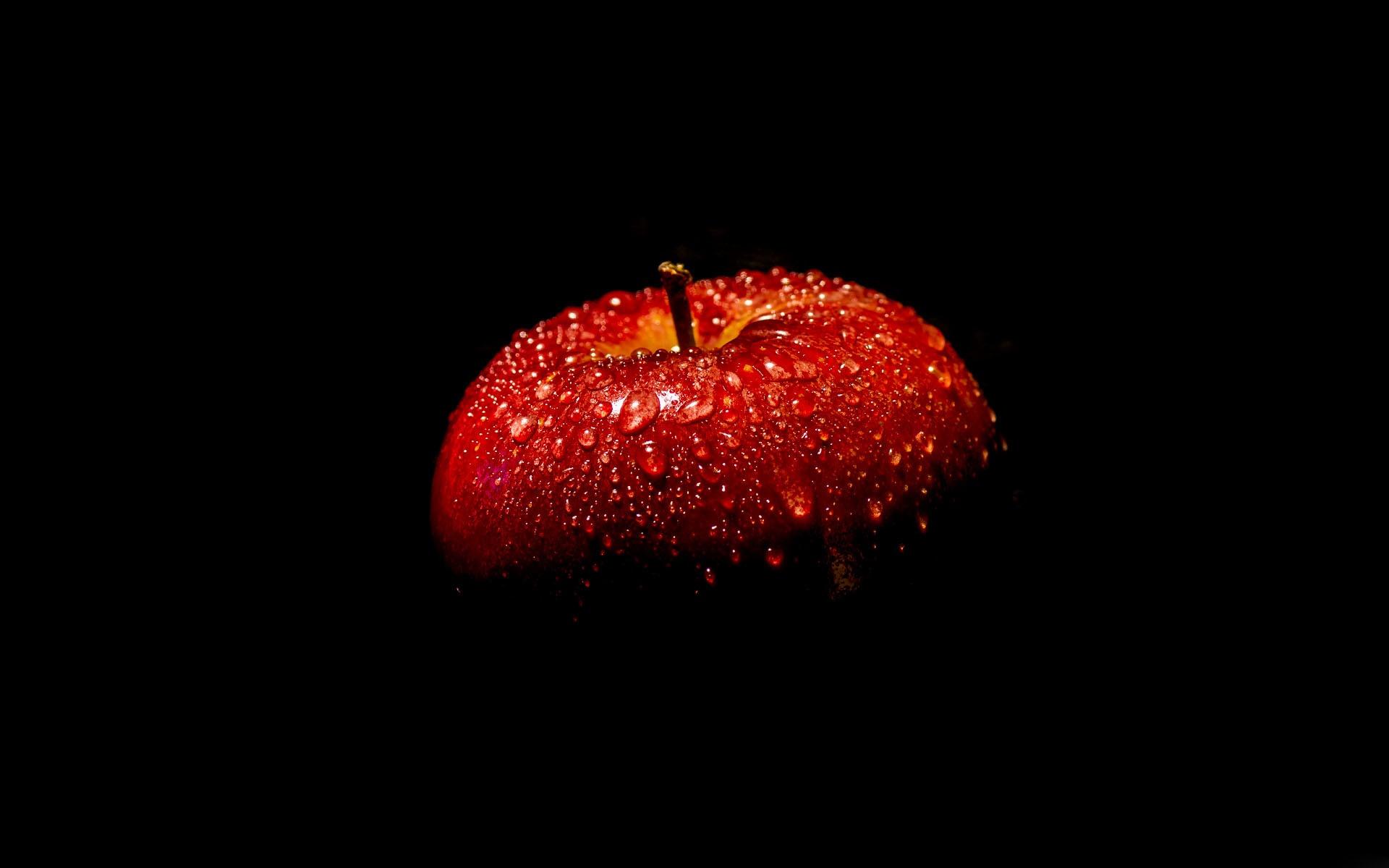Fonds d 39 cran pomme rouge fond noir 1920x1200 hd image for Fond ecran casa de papel