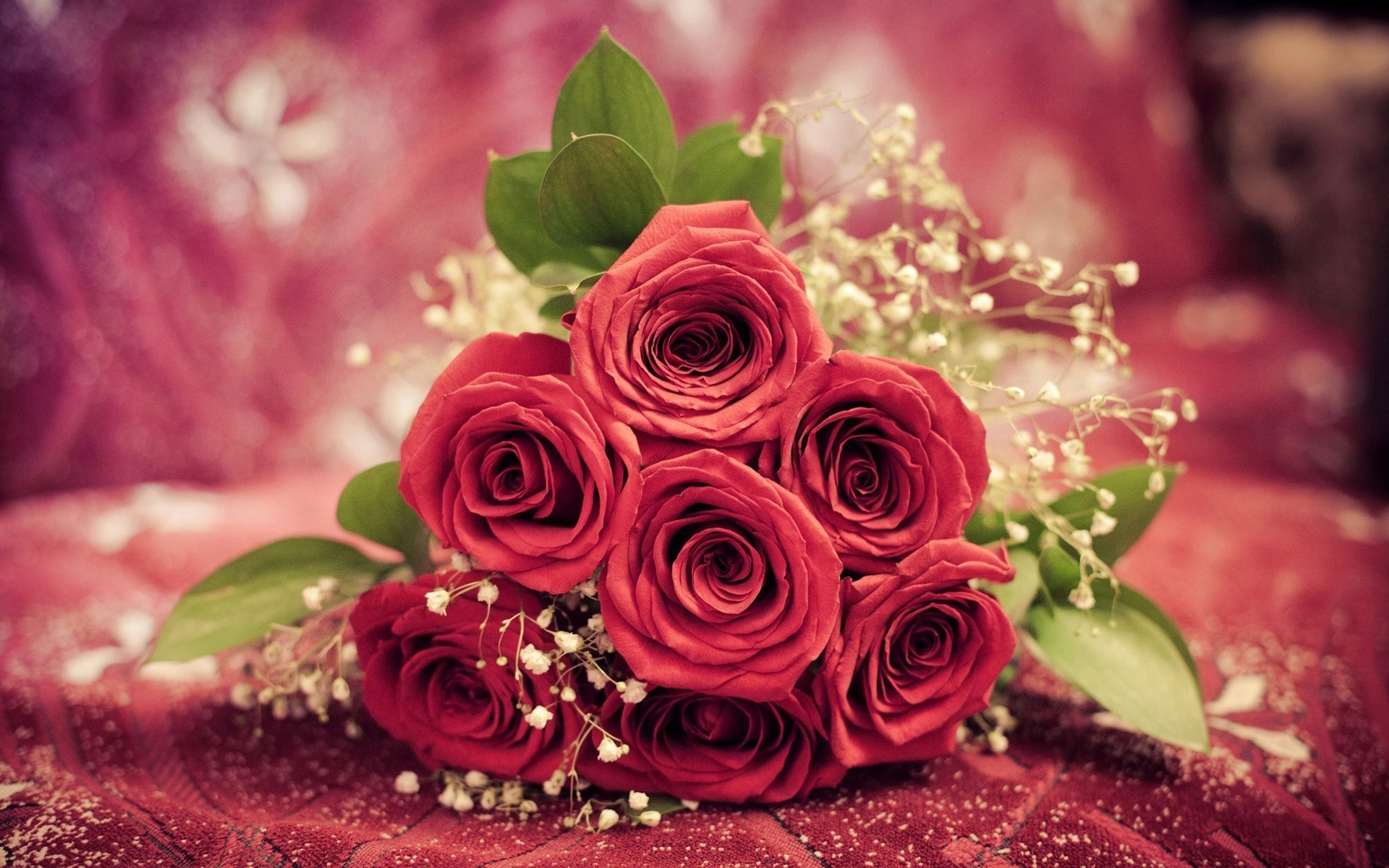 Wallpaper Red Rose Flowers Gift 1920x1200 Hd Picture Image
