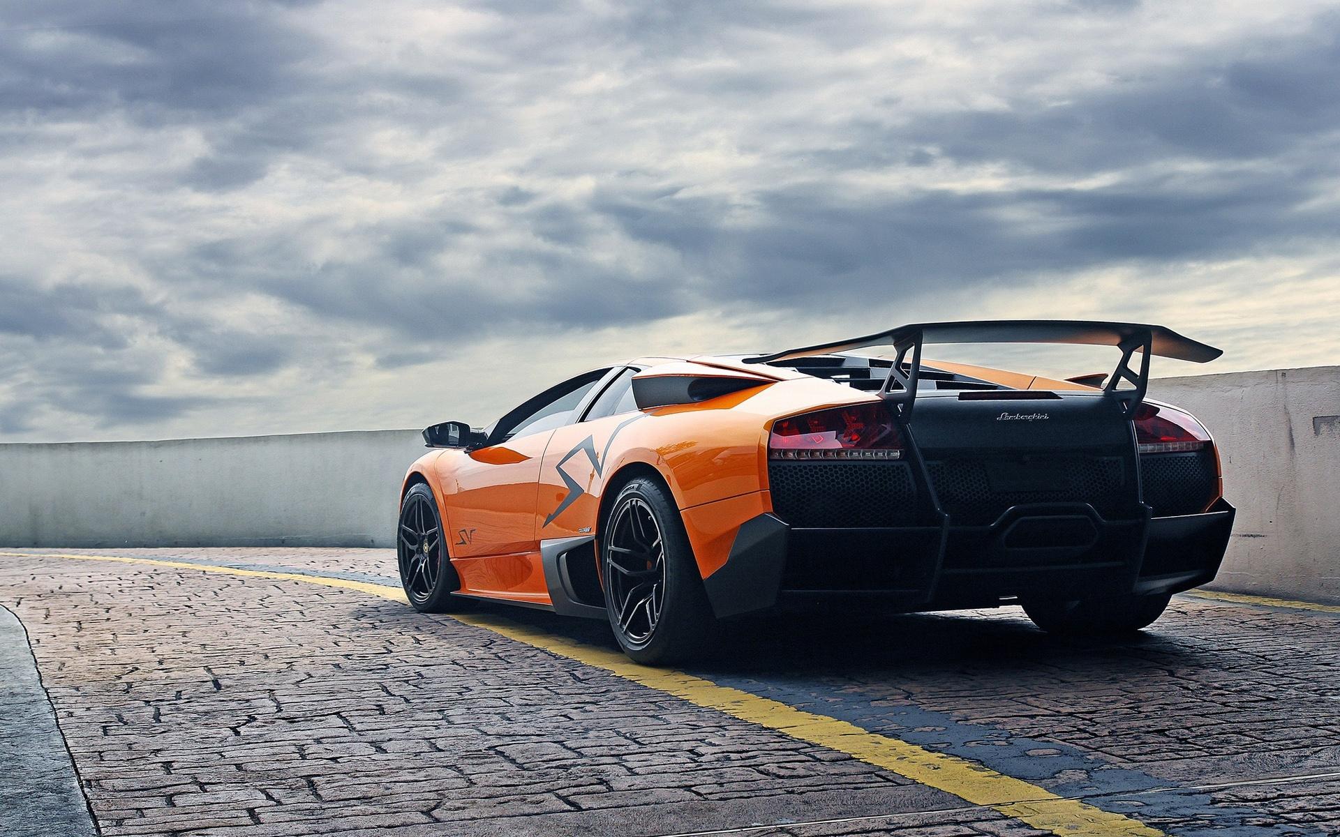 Wallpaper Lamborghini Murcielago Lp670 4 Sv Orange Supercar