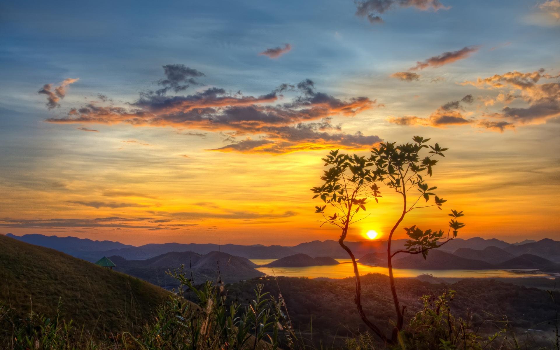 Citate Fotografie Free : Natureza montanhas lago árvore sol manhã amanhecer
