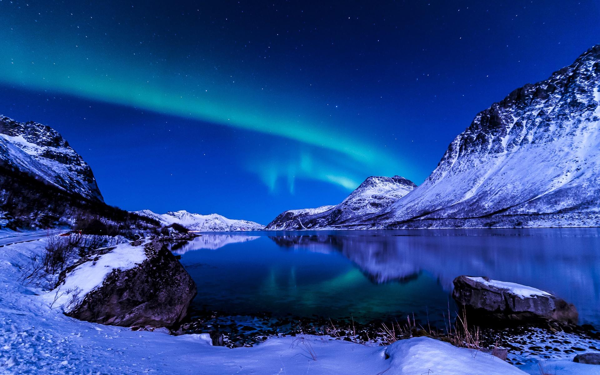 sch ner himmel nacht winter island nordlichter 1920x1200 hd hintergrundbilder hd bild. Black Bedroom Furniture Sets. Home Design Ideas
