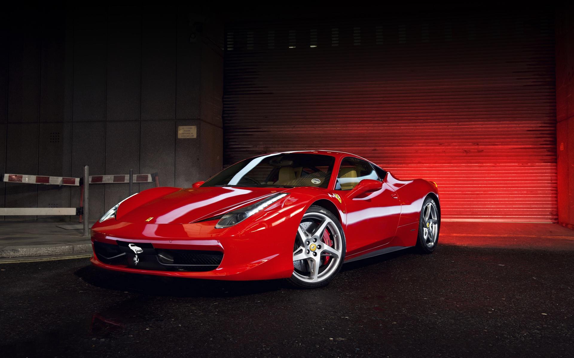 Wallpaper Ferrari 458 Italia Red Supercar Side View 1920x1200 Hd Picture Image