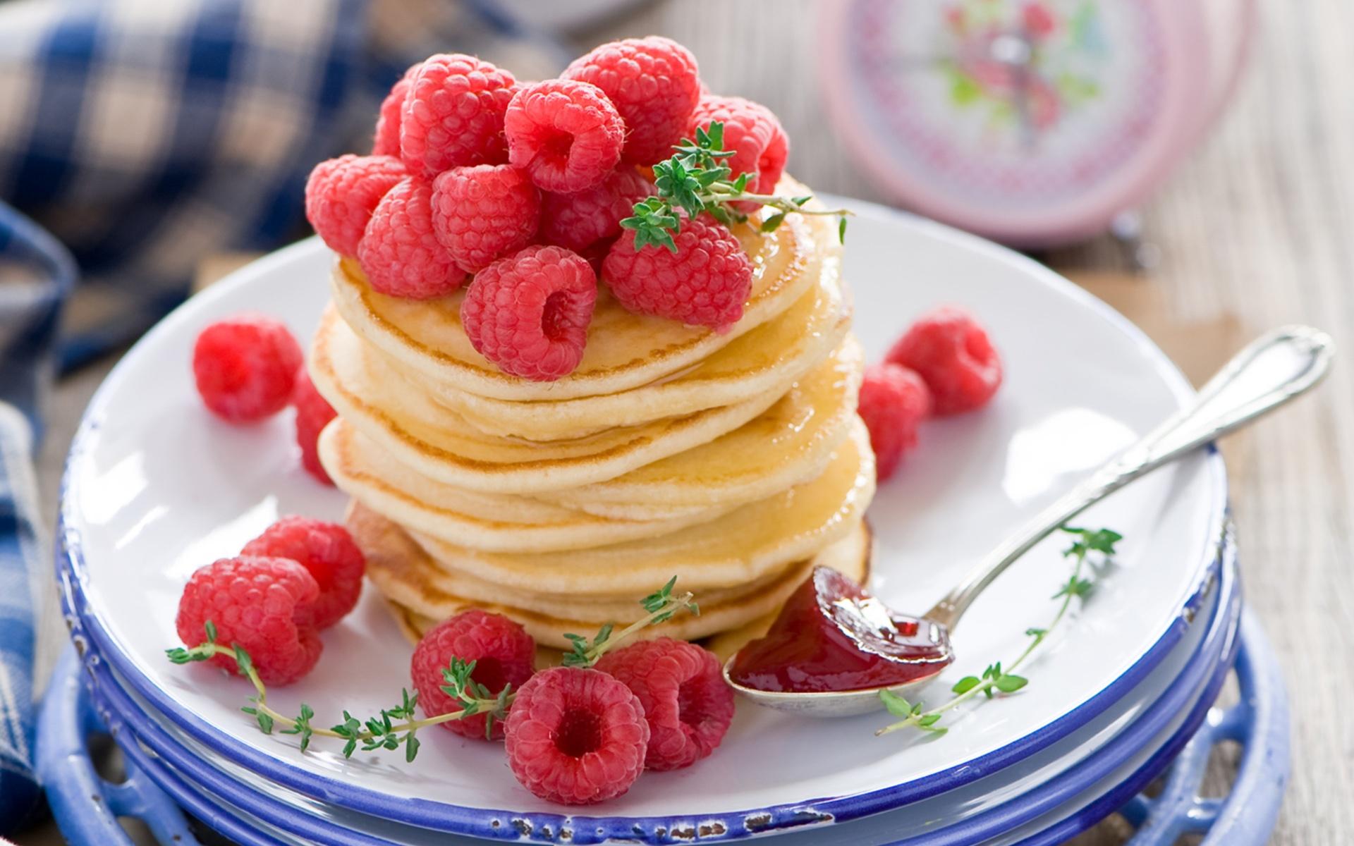 壁紙 食品 パンケーキ フルーツ レッドラズベリー デザートの果物 19x10 Hd 無料のデスクトップの背景 画像