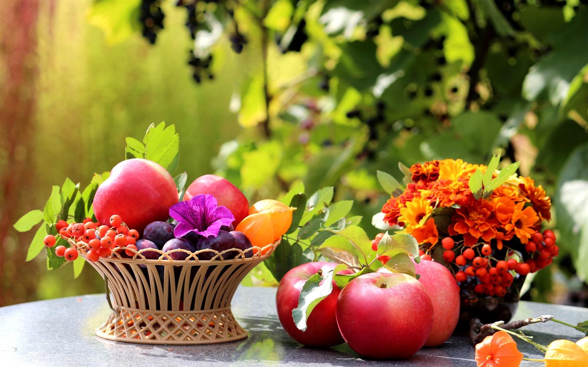 его картинка на рабочий стол осень фрукты человек