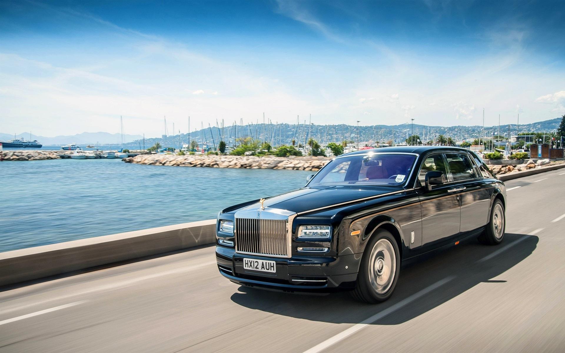 壁紙 速度のロールスロイスの黒の高級車 2560x1600 Hd 無料のデスクトップの背景 画像