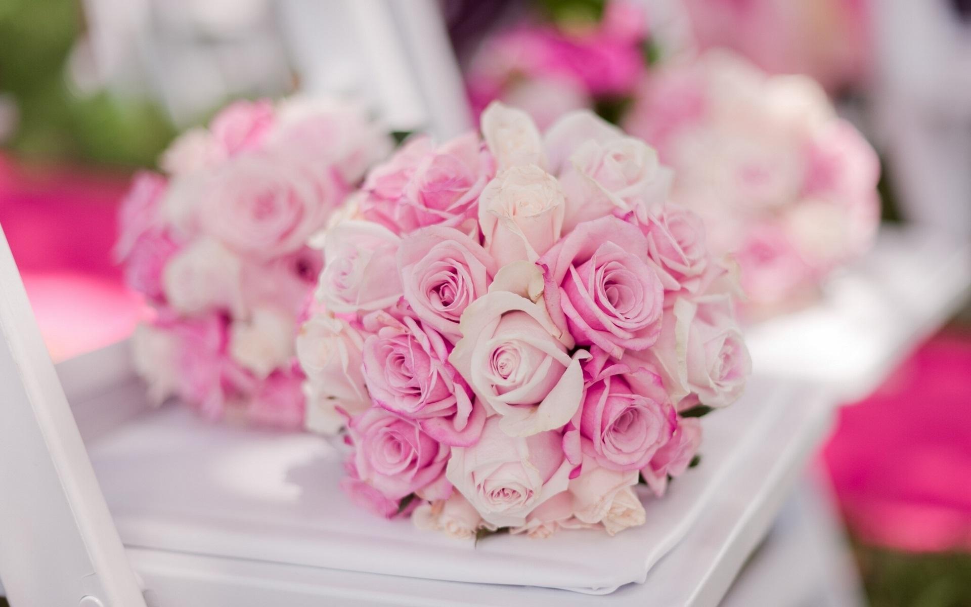 壁紙 ブライダルブーケ ピンクのバラ 1920x1200 Hd 無料の