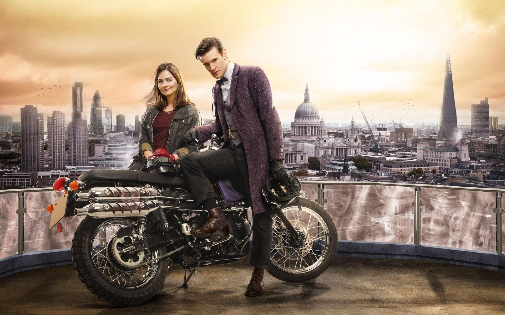 Wallpaper Doctor Who Matt Smith Jenna Louise Coleman 1920x1200