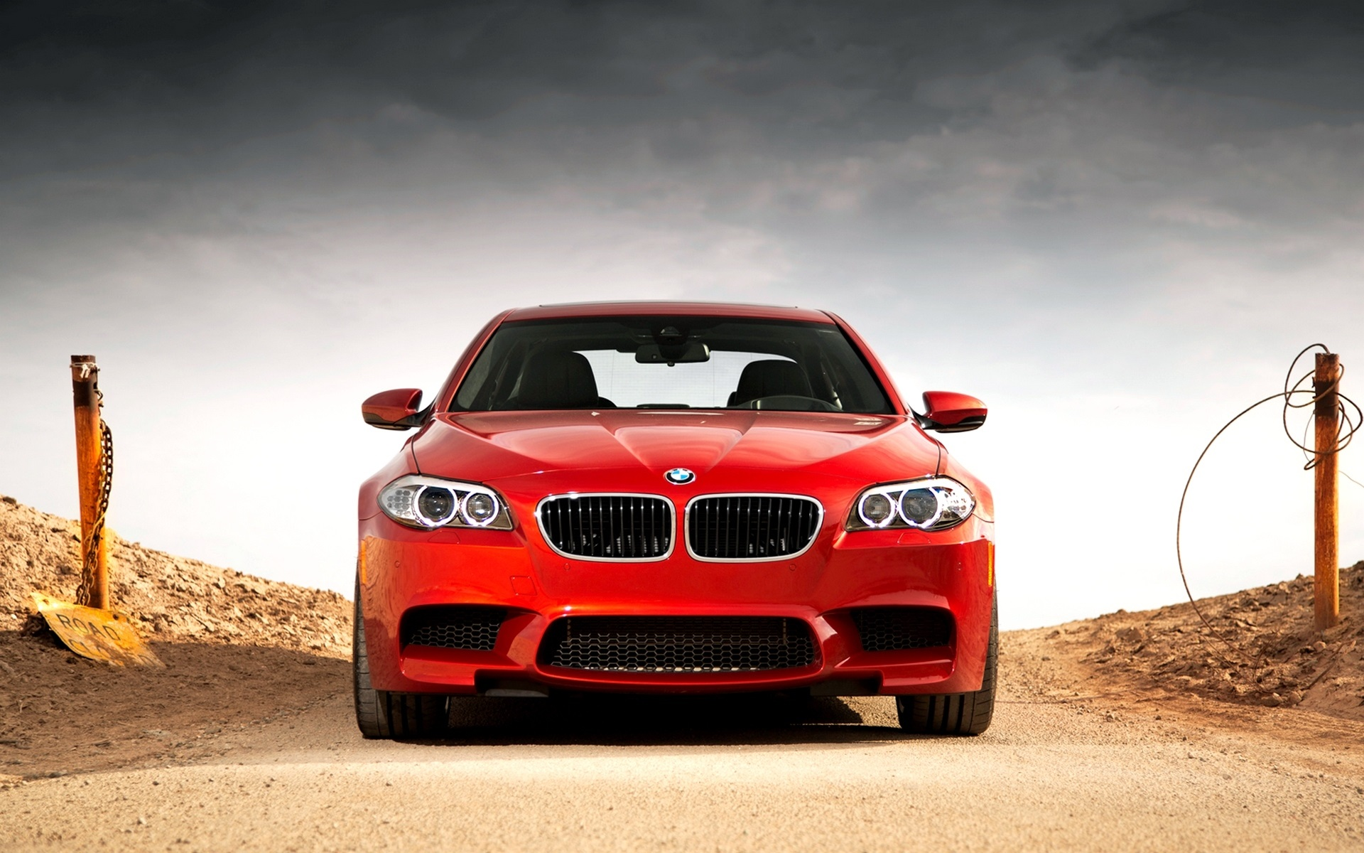 Wallpaper Bmw M5 F10 Red Car Front View 1920x1200 Hd Picture Image