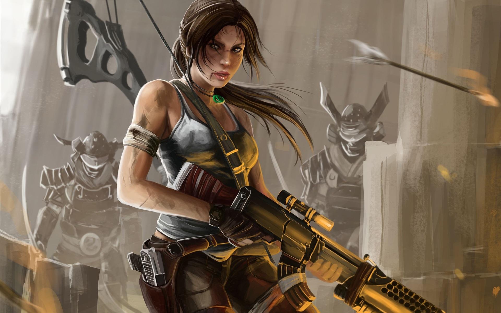 7680x4320 Lara Croft 8k Artwork 8k Hd 4k Wallpapers: Wallpaper Lara Croft, Tomb Raider, Art Painting 2560x1920
