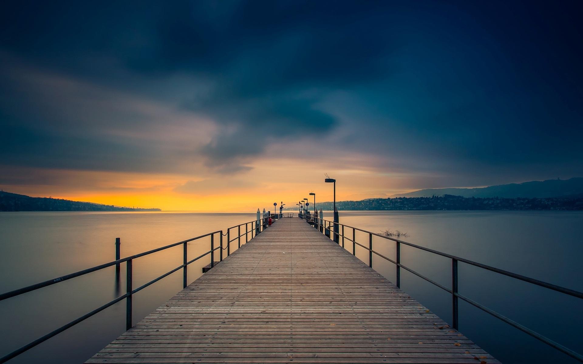 природа море мост  № 70198  скачать