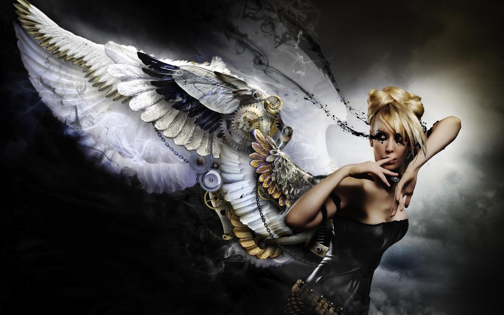 Девушка ангел картинки обои на рабочий стол