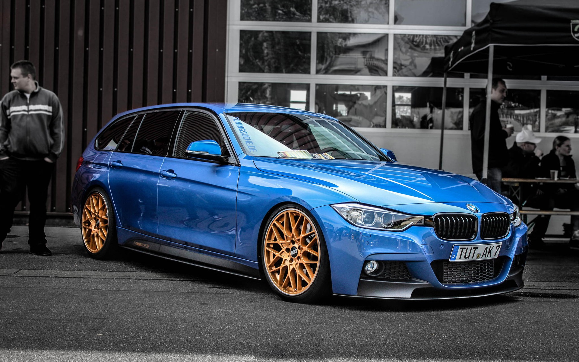 Wallpaper Bmw F30 330d Blue Car Side View 1920x1200 Hd Picture Image