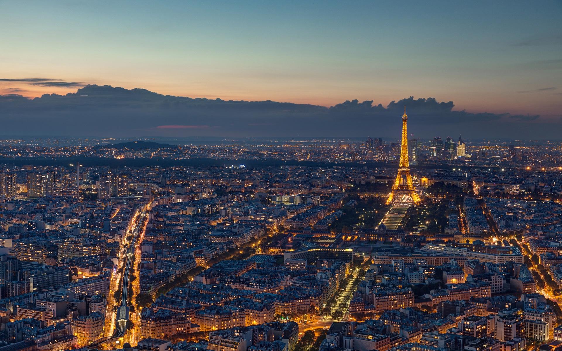 Обои Эйфелева башня, Облака, вид, лодки, красиво. Города foto 8