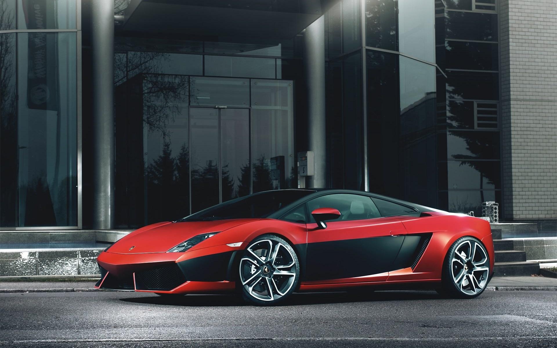 壁紙 ランボルギーニガヤルドlp560 4赤黒スーパーカー 1920x1200 Hd