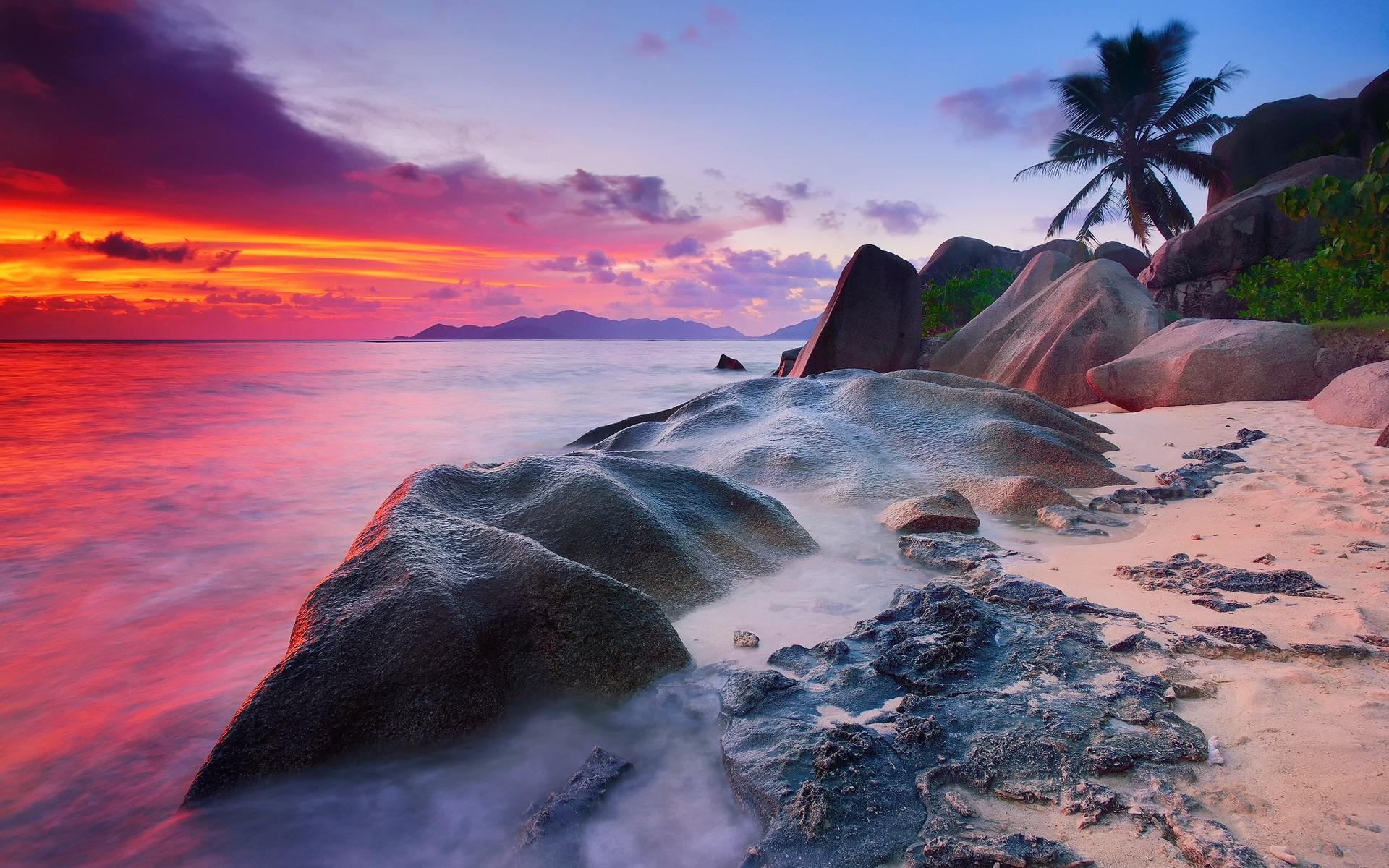 セーシェル、ラ·ディーグ島、インド洋、海、石、ヤ... セーシェル、ラ·ディーグ島、インド洋、海