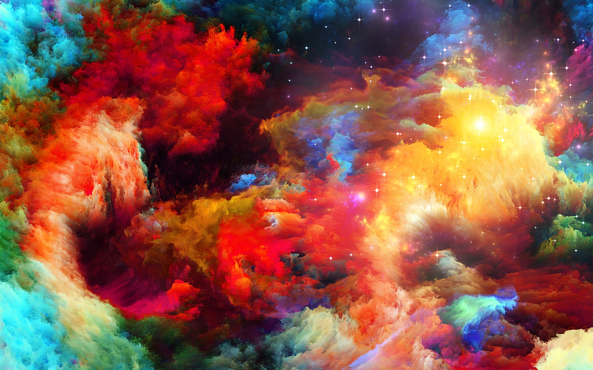 Wallpaper Colorful Space, Abstract Design, Stars 2560x1920