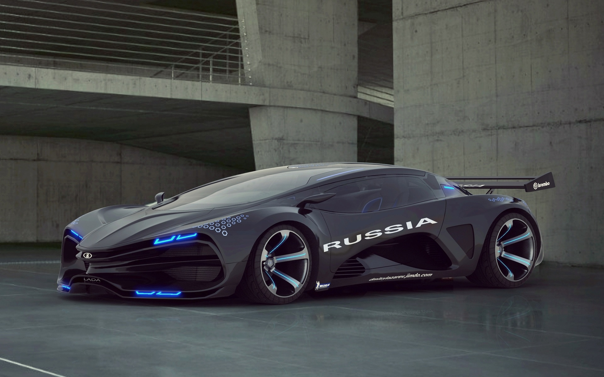 wallpaper lada raver raven concept car 1920x1200 hd picture, image